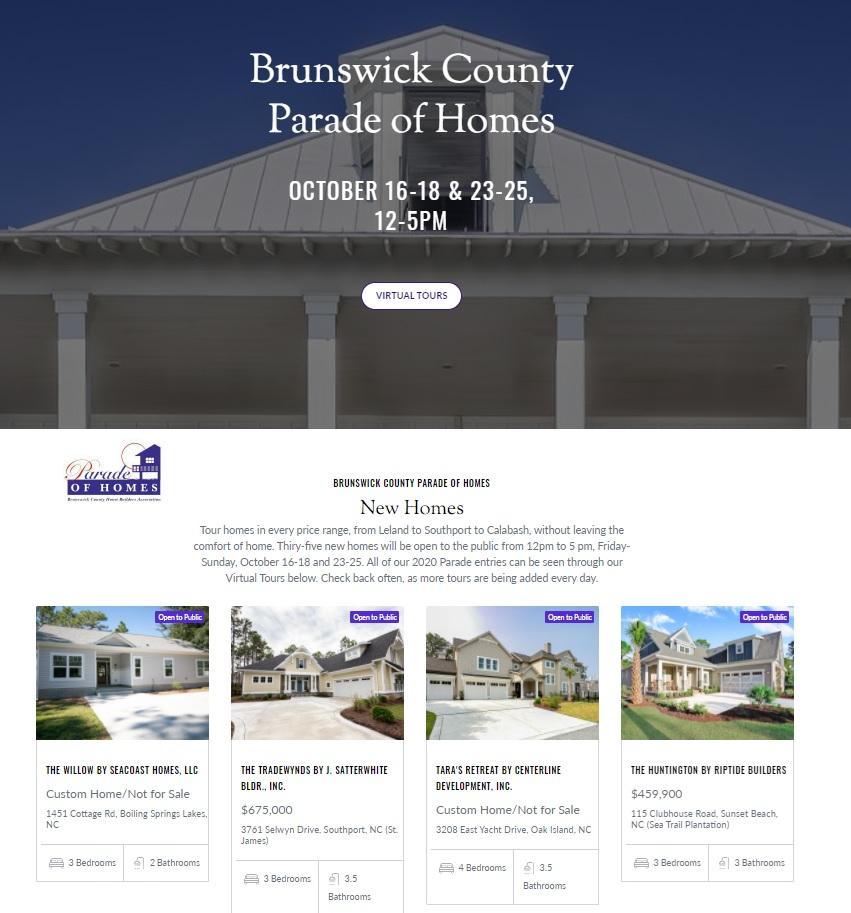 Parade of homes website