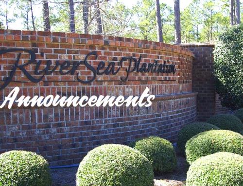 RiverSea Plantation Announcements