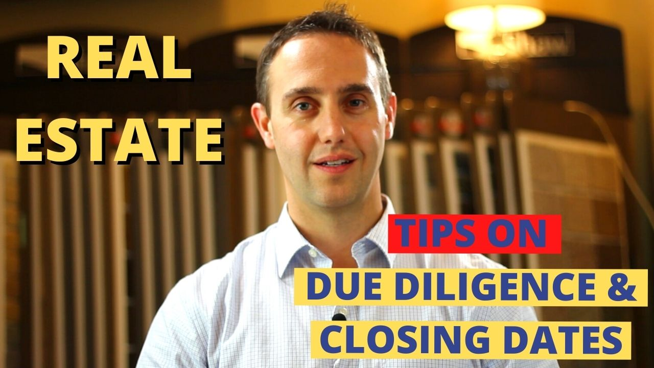 Closing and due diligence dates